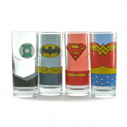 Verres Justice League - lot de 4