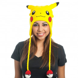 Bonnet Pokémon Pikachu avec Pompons Pokéballs
