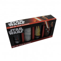 Set de Quatre Verres Star Wars - Torses Personnages