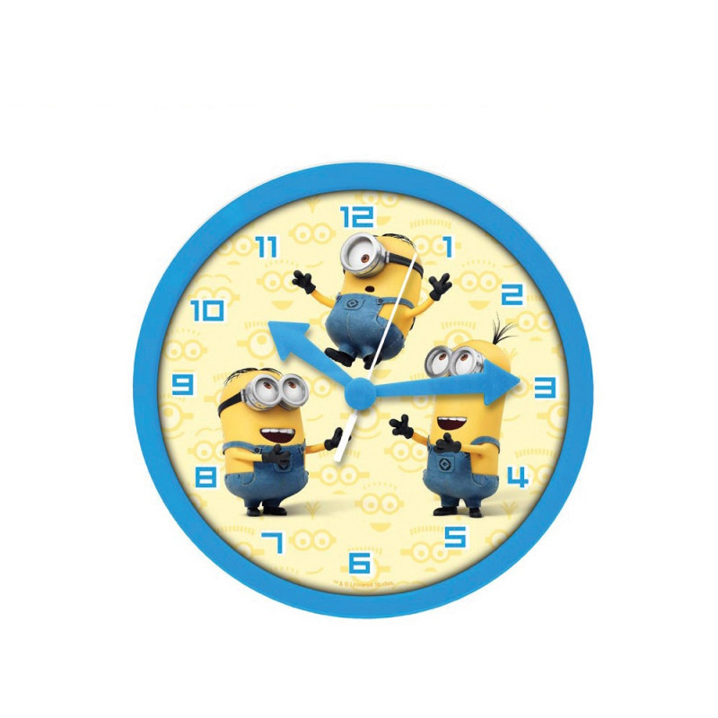 horloge murale minions cadeau rigolo pour enfant sur. Black Bedroom Furniture Sets. Home Design Ideas