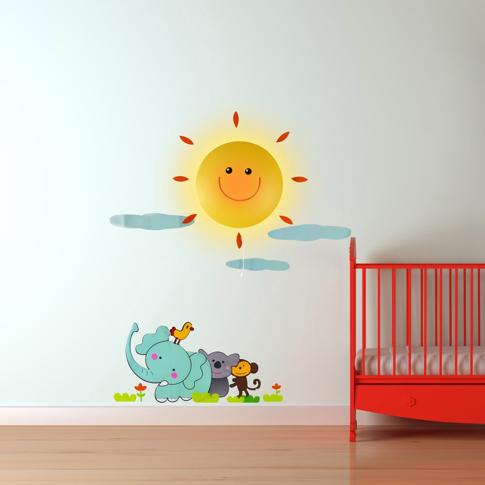 luminaire enfant stickers chambre b b avec lampe sur. Black Bedroom Furniture Sets. Home Design Ideas