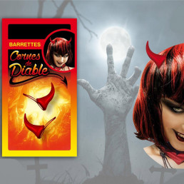 Barrettes Cornes de Diable Rouges