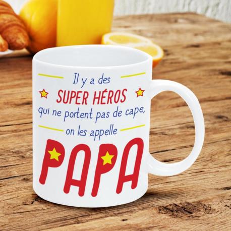 Mug Fête des Pères cadeau original pour papa Super Héros