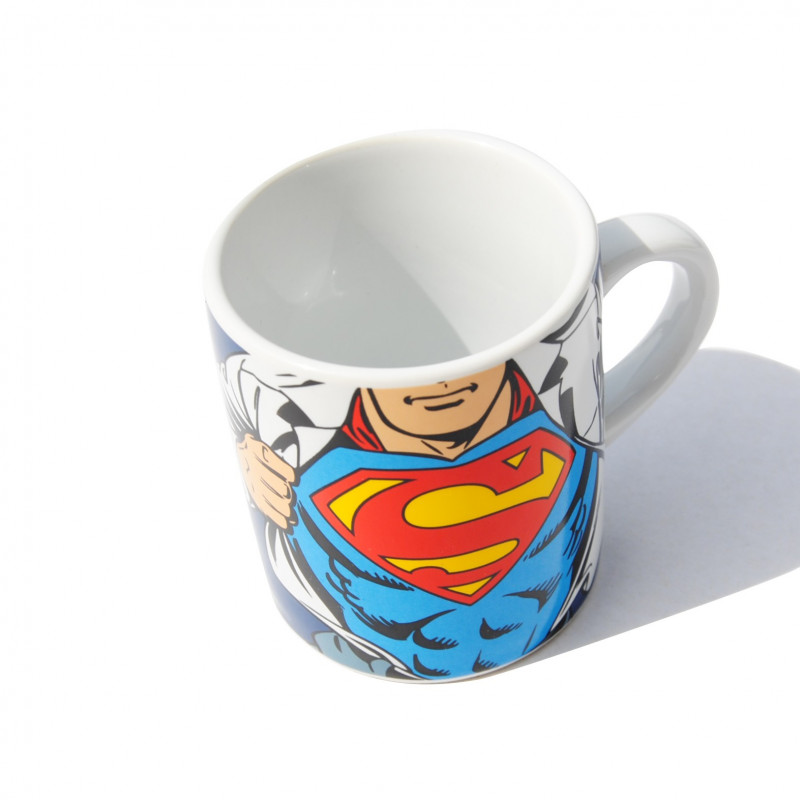 tasse caf en c ramique superman sous licence officielle dc comics sur rapid cadeau. Black Bedroom Furniture Sets. Home Design Ideas