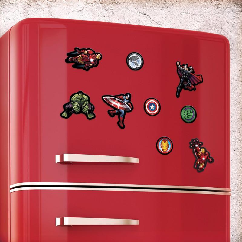 aimant magnet pour frigo l 39 effigie des superh ros marvel avengers sur rapid cadeau. Black Bedroom Furniture Sets. Home Design Ideas