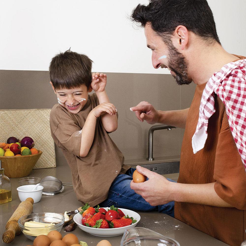 père et fils en mission commando Cuisiniers