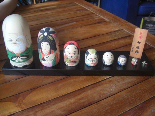 Poupées Japonaises - Les 7 divignités