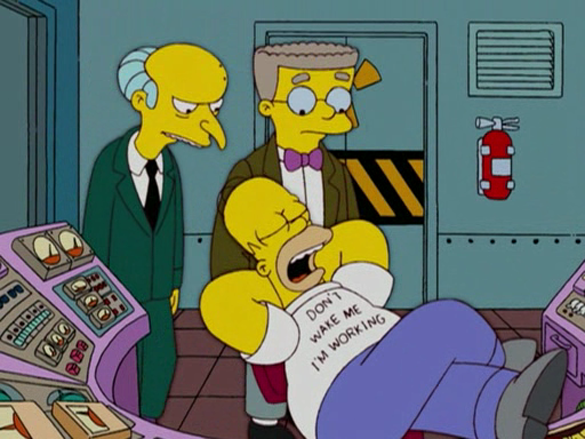 Homer Simpson au boulot