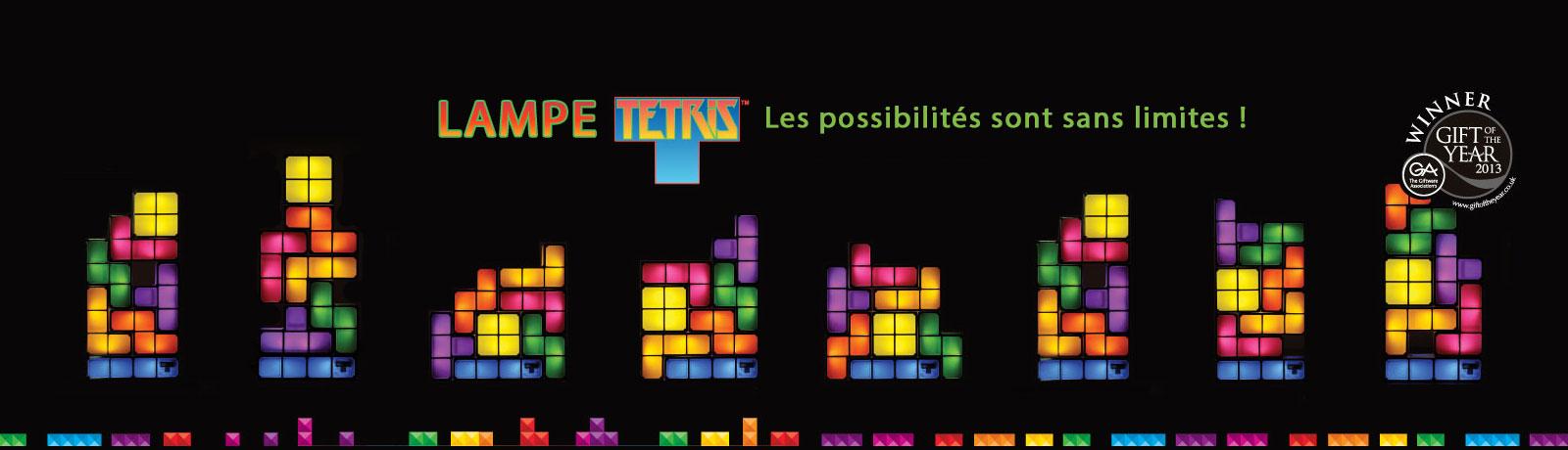 La lampe Tetris est modulable à l'infini. Ces blocs lumineux sont sans limites.