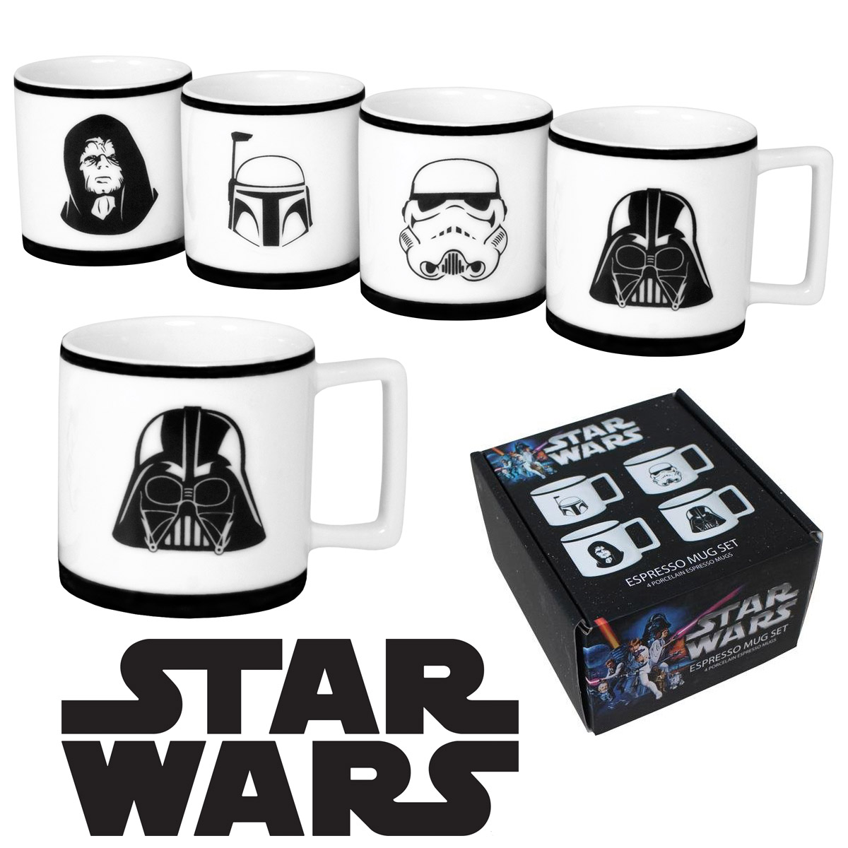 Cinq Mugs Star Wars Exclusivement Destinés Aux Vrais Fans